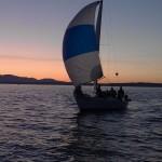 Port Orchard sailboat at sunset