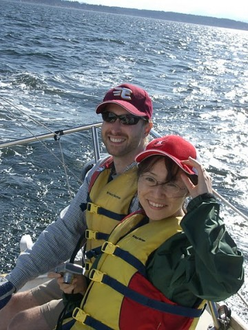 Couple with sailing Private Instruction