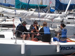 Group of sailors on a boat: Seattle Sailing Club's Sailing School - ASA 101 Sailing Lesson