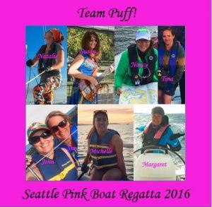 Pink Boat Regatta Team Photo 2016