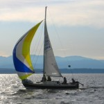 Sailboats - J/24 with Spinnaker. The most active fleet in the Seattle area