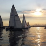 Sailboats at sunset at Elliot Bay Marina