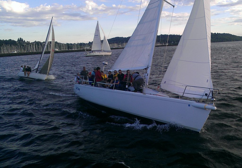 Sailboats at the Sailfest event