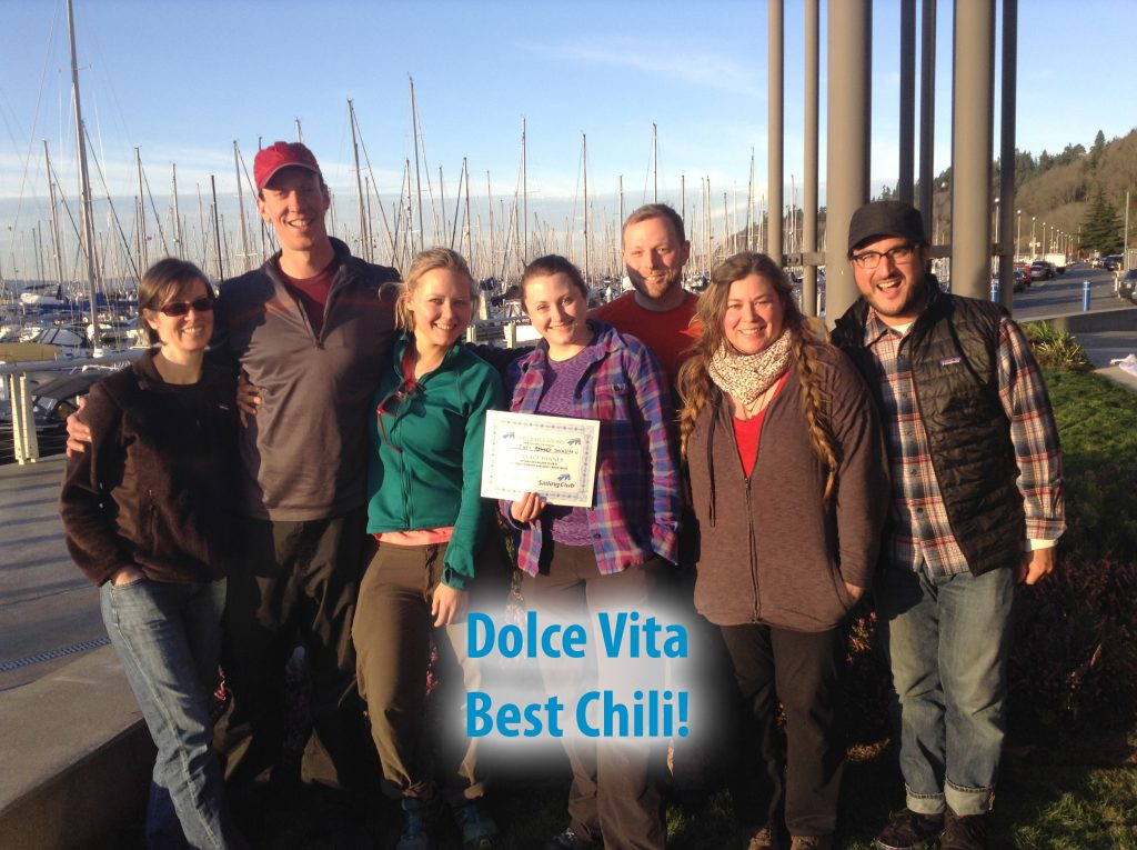 Voted Best Chili at Seattle Sailing Club Chili Cookoff