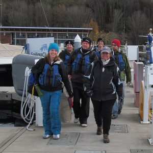 Group of instructors and students for Sailing Lessons - ASA 101 - Beth
