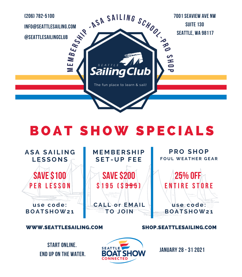 Seattle Sailing Club Boat Show Specials